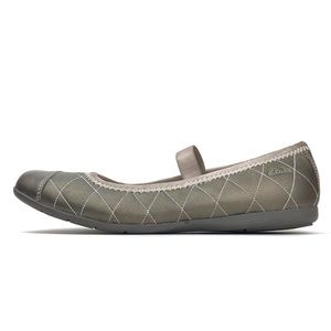 Clarks Quilted Leather Ballet Flats